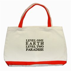 Level One Earth Classic Tote Bag (Red)