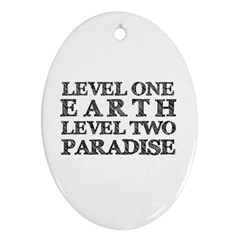 Level One Earth Oval Ornament (Two Sides)