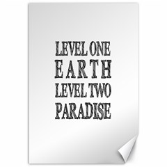 Level One Earth Canvas 12  X 18  (unframed)