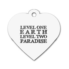 Level One Earth Dog Tag Heart (one Sided)