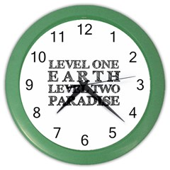 Level One Earth Wall Clock (Color)