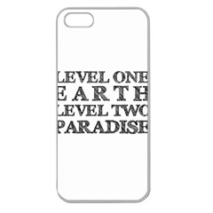 Level One Earth Apple Seamless Iphone 5 Case (clear)