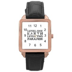 Level One Earth Rose Gold Leather Watch