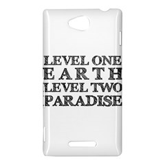 Level One Earth Sony Xperia C (S39H) Hardshell Case