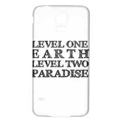 Level One Earth Samsung Galaxy S5 Back Case (White)