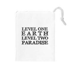 Level One Earth Drawstring Pouch (Large)