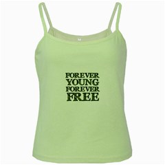Forever Young Green Spaghetti Tank