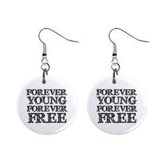 Forever Young Mini Button Earrings