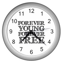 Forever Young Wall Clock (Silver)