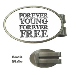 Forever Young Money Clip (oval)