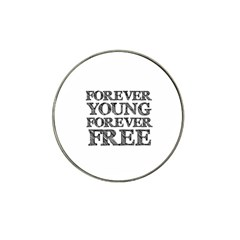 Forever Young Golf Ball Marker 4 Pack (for Hat Clip)