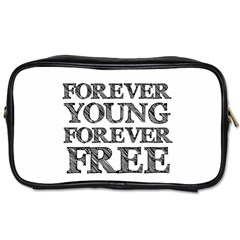 Forever Young Travel Toiletry Bag (two Sides)