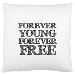 Forever Young Large Cushion Case (Two Sided)