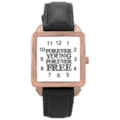 Forever Young Rose Gold Leather Watch