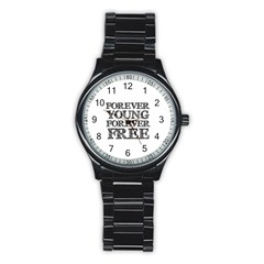 Forever Young Sport Metal Watch (black)