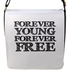 Forever Young Flap Closure Messenger Bag (Small)