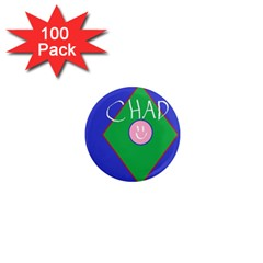 Chadart 1  Mini Button Magnet (100 Pack)
