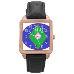 Chadart Rose Gold Leather Watch