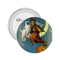 Vintage Halloween Witch 2.25  Button