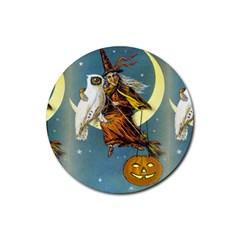 Vintage Halloween Witch Drink Coaster (Round)