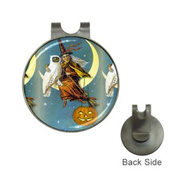 Vintage Halloween Witch Hat Clip with Golf Ball Marker