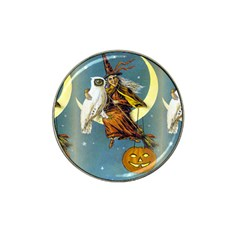 Vintage Halloween Witch Golf Ball Marker 4 Pack (for Hat Clip)