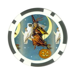 Vintage Halloween Witch Poker Chip (10 Pack)