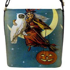 Vintage Halloween Witch Flap Closure Messenger Bag (Small)