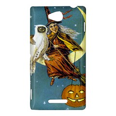 Vintage Halloween Witch Sony Xperia C (S39H) Hardshell Case