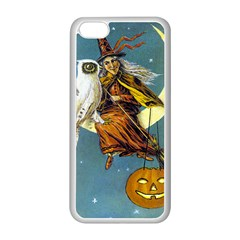 Vintage Halloween Witch Apple iPhone 5C Seamless Case (White)