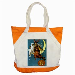 Vintage Halloween Witch Accent Tote Bag