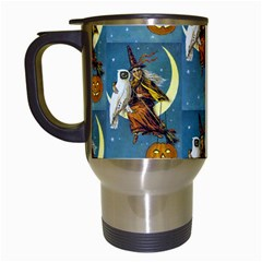 Vintage Halloween Witch Travel Mug (White)