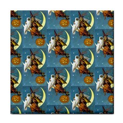 Vintage Halloween Witch Face Towel