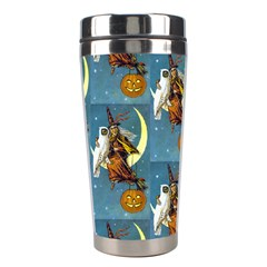 Vintage Halloween Witch Stainless Steel Travel Tumbler