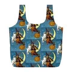 Vintage Halloween Witch Reusable Bag (L)