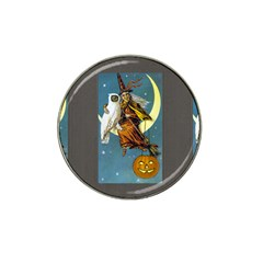 Vintage Halloween Witch Golf Ball Marker (for Hat Clip)