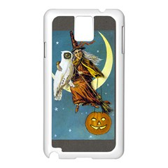 Vintage Halloween Witch Samsung Galaxy Note 3 N9005 Case (White)