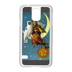 Vintage Halloween Witch Samsung Galaxy S5 Case (White)