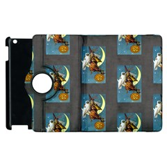 Vintage Halloween Witch Apple iPad 3/4 Flip 360 Case