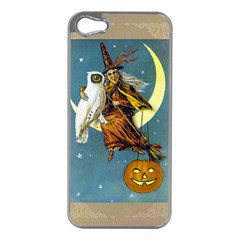 Vintage Halloween Witch Apple iPhone 5 Case (Silver)
