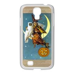 Vintage Halloween Witch Samsung GALAXY S4 I9500/ I9505 Case (White)