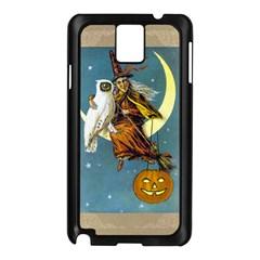 Vintage Halloween Witch Samsung Galaxy Note 3 N9005 Case (Black)