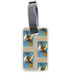 Vintage Halloween Witch Luggage Tag (One Side)