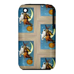 Vintage Halloween Witch Apple iPhone 3G/3GS Hardshell Case (PC+Silicone)