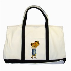 Vintage Halloween Child Two Toned Tote Bag