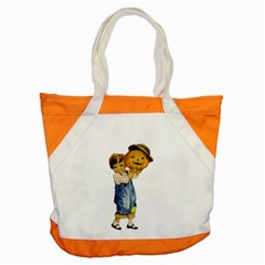 Vintage Halloween Child Accent Tote Bag