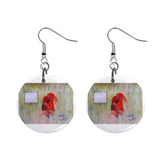 Neanderthal Love Mini Button Earrings