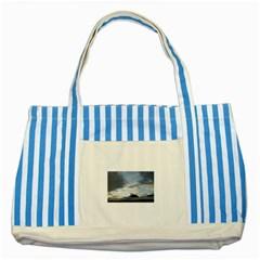 10362641 10204276497263219 8752081947857036330 N Blue Striped Tote Bag