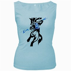 Alpha Dog Women s Tank Top (Baby Blue)