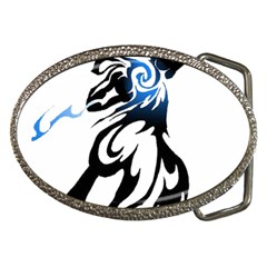 Alpha Dog Belt Buckle (Oval)